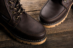 Leather boots Stock Image