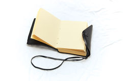 Leather bound blank journal Stock Photography