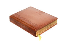 Leather bound book Stock Image