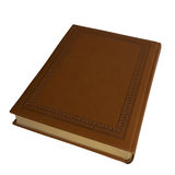 In leather-bound book. Isolated on the white background Stock Images