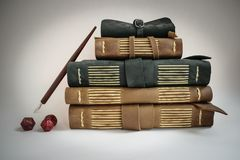 Leather bound books journals Stock Photos
