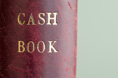 Leather Bound Cash Book Stock Photo