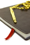 Leather bound diary Stock Image