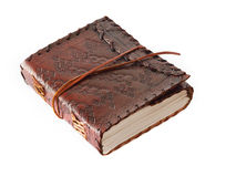 Leather bound journal Stock Images