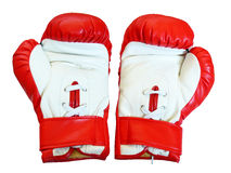 Leather boxing gloves for fight. Pair of leather boxing gloves for fight Stock Photography