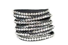 Leather  bracelet Stock Photography