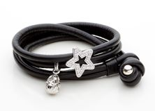 Leather bracelet Royalty Free Stock Images