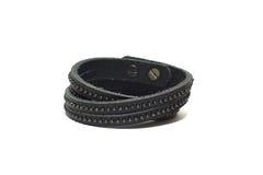 Leather bracelet royalty free stock images