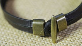 Leather bracelet Royalty Free Stock Photography