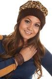 Leather bracelet warm hat Royalty Free Stock Images