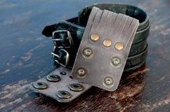 Leather Bracelets Stock Photo