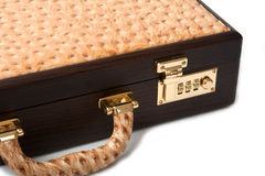 Leather Brief Suit Case Royalty Free Stock Photography