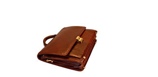 Leather briefcase Royalty Free Stock Photos