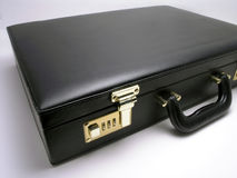 Leather briefcase - 2 Stock Photos