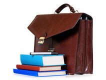 Leather briefcase Royalty Free Stock Photography