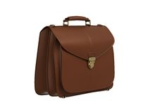 Leather briefcase Stock Images