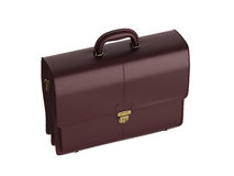 Leather briefcase Stock Image