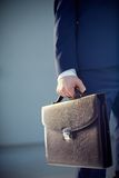 Leather briefcase Stock Photos