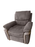 Leather brown armchair Stock Photo