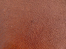 Leather brown background Royalty Free Stock Photos