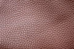 Faux brown leather stock photo