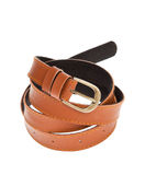 Leather brown belt Royalty Free Stock Image