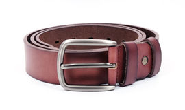 Leather brown belt Royalty Free Stock Images