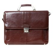 Leather brown briefcase Royalty Free Stock Photography