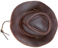 Leather brown cowboy hat Royalty Free Stock Image