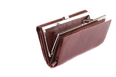 Leather Brown Purse Stock Image