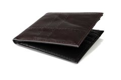 Leather brown purse. Royalty Free Stock Photos