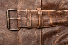 Leather and buckle Stock Photos