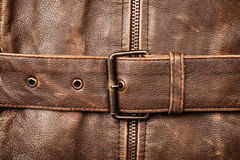Leather and buckle Stock Photography