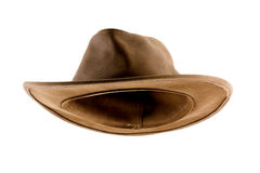 Leather bush hat isolated on white Royalty Free Stock Image