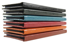 Leather business card organizers Stock Photos
