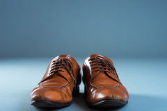 Leather Business shoes Studio shooting.  stock images