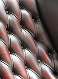 Leather buttoned background Royalty Free Stock Images