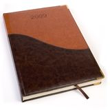 Leather calendar notebooks Royalty Free Stock Photos