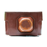 Leather camera case Royalty Free Stock Photo