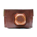 Leather camera case Royalty Free Stock Photo