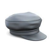 Leather cap  on white Royalty Free Stock Photography