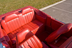 Leather car interior Royalty Free Stock Photo