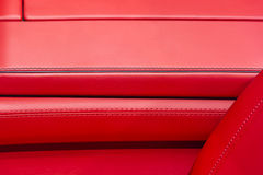 Leather car interior Royalty Free Stock Images
