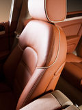 Leather car seat royalty free stock photography