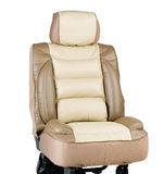 Leather car seat cover stock images