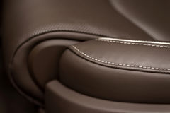 Leather car seat detail. Royalty Free Stock Photography