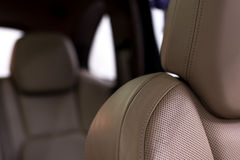 Leather car seat. Royalty Free Stock Photos