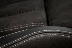 Leather car seat texture. Stock Photography