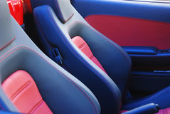 Leather car seats Stock Photos