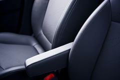 Leather Car Seats Stock Photo